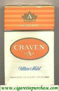Craven A Ultra Mild cigarettes