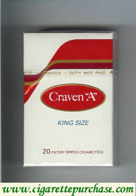 Craven A king size cigarettes