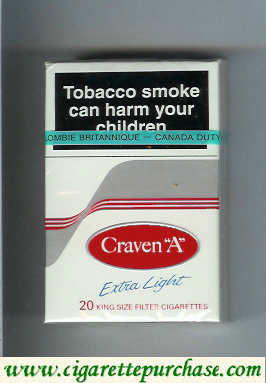Craven A with wave Extra Light cigarettes