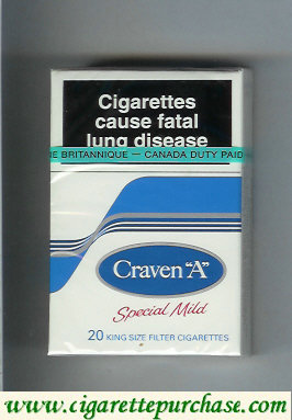 Discount Craven A with wave Special Mild cigarettes