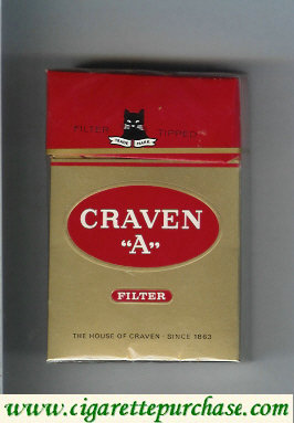 Craven A filter cigarettes