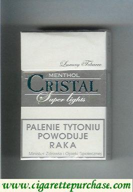 Discount Cristal Menthol Super Lights cigarettes Luxury Tobacco