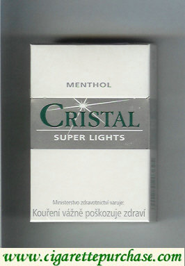 Discount Cristal Menthol Super Lights cigarettes