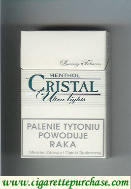 Cristal Menthol Ultra Lights cigarettes Luxury Tobacco