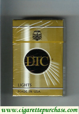 Discount DTC Lights cigarettes hard box