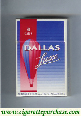 Discount Dallas Luxe blue and red cigarettes hard box