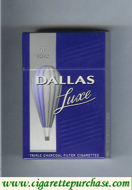 Discount Dallas Luxe blue and silver cigarettes hard box
