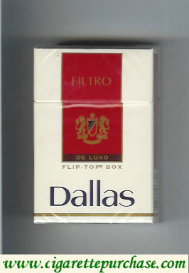Discount Dallas De Luxo Filtro cigarettes hard box