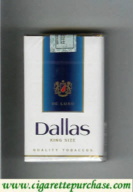 Discount Dallas De Luxo Quality Tobaccos white and blue cigarettes soft box