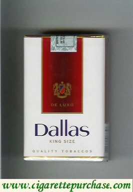 Discount Dallas De Luxo Quality Tobaccos white and red cigarettes soft box