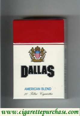 Discount Dallas American Blend cigarettes hard box