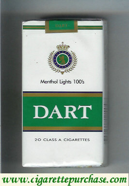 Dart Menthol Lights 100s cigarettes soft box
