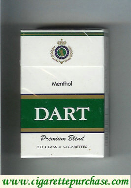 Dart Premium Blend Menthol cigarettes hard box