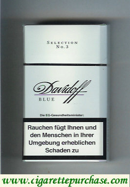 Discount Davidoff Blue 100s Selection No 3 cigarettes hard box