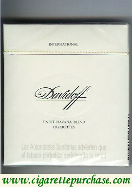 Discount Davidoff Finest Havana Blend International 100s cigarettes wide flat hard box