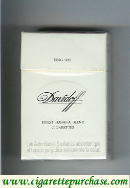 Discount Davidoff Finest Havana Blend cigarettes hard box