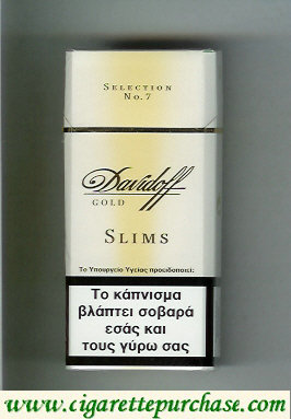 Discount Davidoff Gold Selection No 7 Slims 100s cigarettes hard box