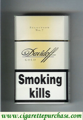 Discount Davidoff Gold Selection No 7 100s cigarettes hard box
