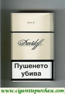Davidoff Gold 100s cigarettes hard box