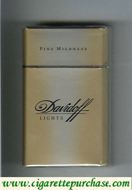 Discount Davidoff Lights Fine Mildness 100s cigarettes hard box