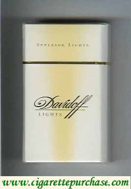 Davidoff Lights Superior Lights 100s cigarettes hard box