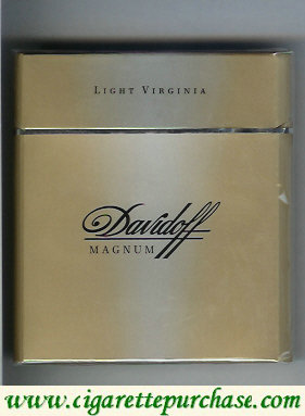 Discount Davidoff Magnum Light Virginia grey 100s cigarettes wide flat hard box