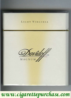 Discount Davidoff Magnum Light Virginia white 100s cigarettes wide flat hard box