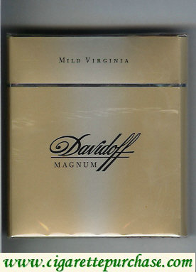 Discount Davidoff Magnum Mild Virginia 100s cigarettes wide flat hard box