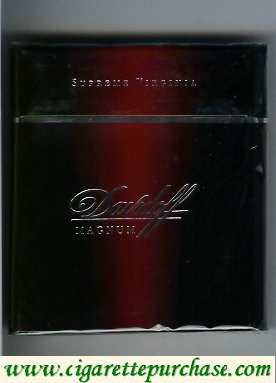 Discount Davidoff Magnum Supreme Virginia 100s cigarettes wide flat hard box