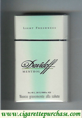 Discount Davidoff Menthol Light Freshness 100s cigarettes hard box