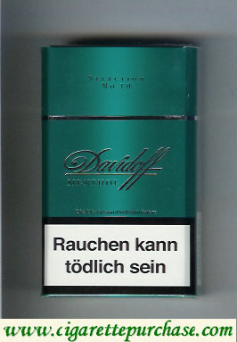 Discount Davidoff Menthol Selection No 10 100s cigarettes hard box