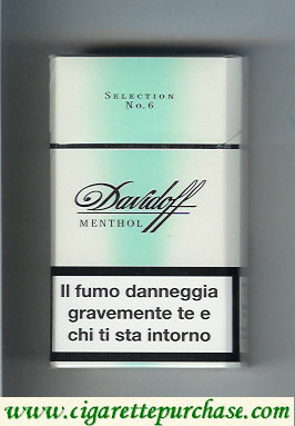 Discount Davidoff Menthol Selection No 6 100s cigarettes hard box