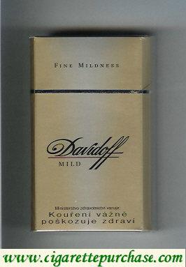Discount Davidoff Mild Fine Mildness 100s cigarettes hard box