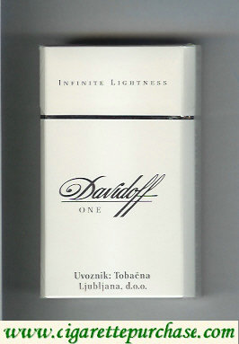 Discount Davidoff One Infinite Lightness 100s cigarettes hard box