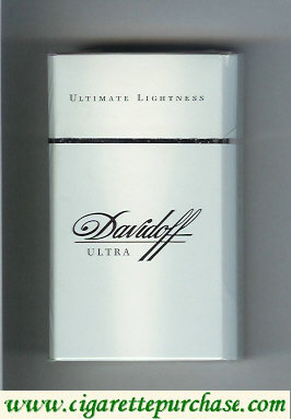 Discount Davidoff Ultra Ultimate Lightness 100s cigarettes hard box