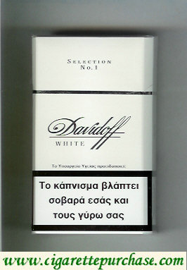 Discount Davidoff White Selection No 1 100s cigarettes hard box