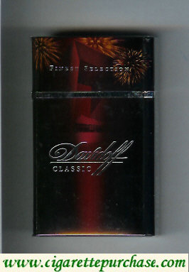 Discount Davidoff 100s cigarettes collection design Classic Finest Selection hard box