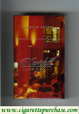 Discount Davidoff  Classic collection design Signature Edition 100s cigarettes hard box