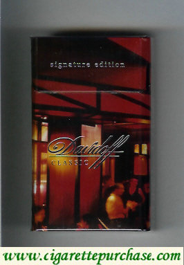 Discount Davidoff Classic Signature Edition 100s cigarettes hard box