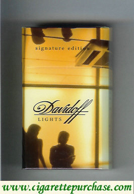 Discount Davidoff Classic Signature Edition collection design 100s cigarettes hard box