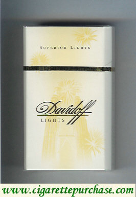 Discount Davidoff Lights Superior Lights 100s cigarettes hard box