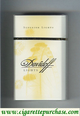 Discount Davidoff Lights collection design Superior Lights 100s cigarettes hard box