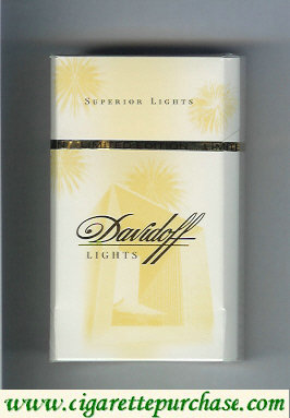 Davidoff 100s cigarettes Lights collection design Superior Lights hard box