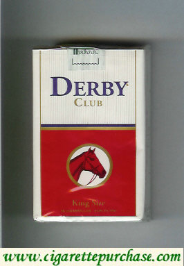 Discount Derby Club white and red cigarettes soft box