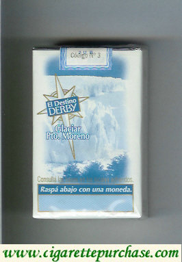 Discount Derby El Destino Derby Suaves Glaciar Pto.Moreno cigarettes soft box