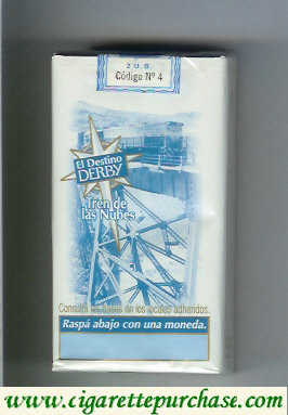 Discount Derby El Destino Derby Suaves Tren de las Nubes 100s cigarettes soft box