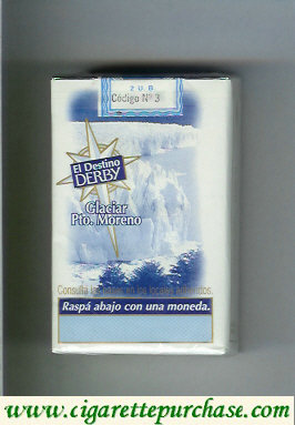 Discount Derby El Destino Derby Glaciar Pto.Moreno cigarettes soft box