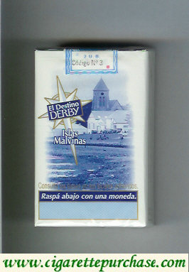 Discount Derby El Destino Derby Islas Malvinas cigarettes soft box