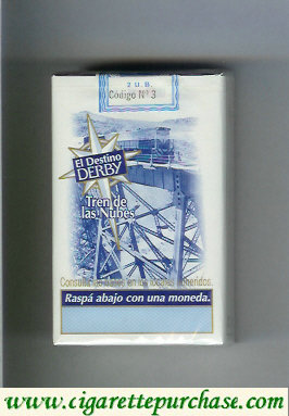 Discount Derby El Destino Derby Tren de las Nubes cigarettes soft box