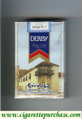 Discount Derby Cordoba cigarettes soft box